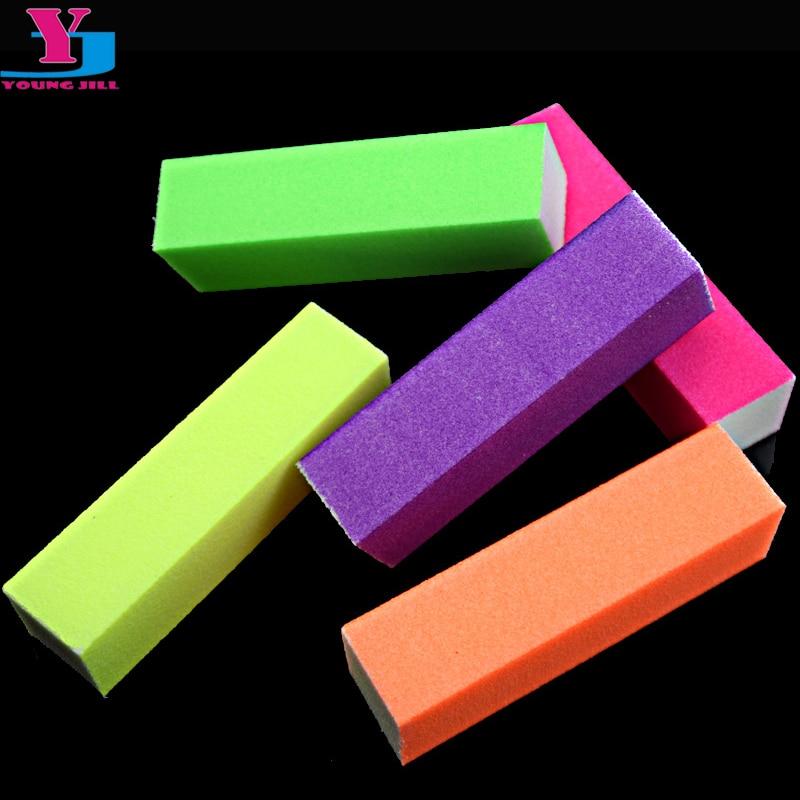 5pcs/lot Hot Nail Buffer Block Neon Color Buffing Sanding Buffer Block Files Manicure Nail Art Tips Women Beauty Manicure Tools