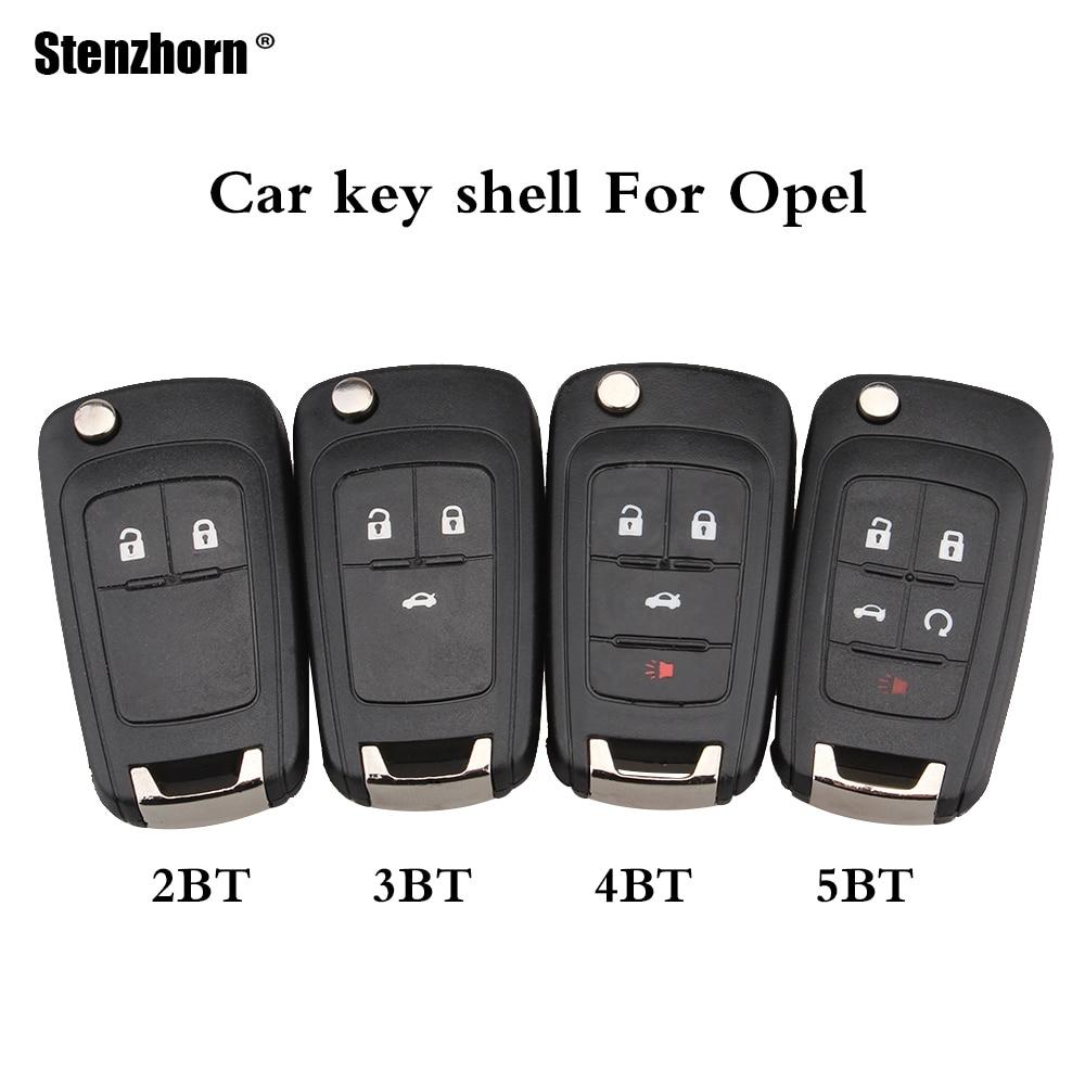 Stenzhorn 2/3/4/5 Buttons Flip Remote Key shell For Opel Vauxhall Astra J Corsa E Insignia Zafira C Adam Mokka Karl key shell цена 2017