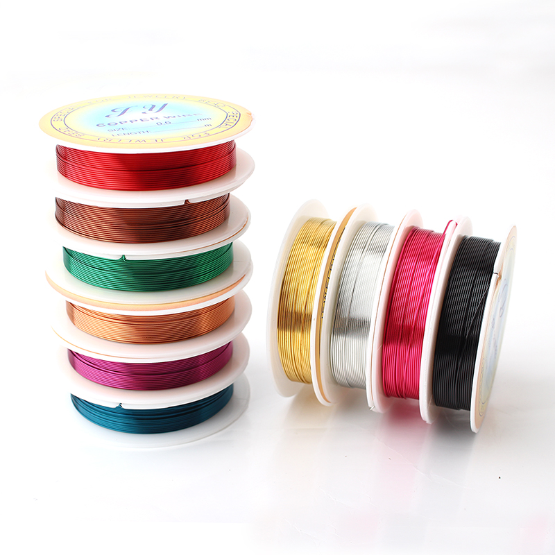 10 pcs 22 Gauge 0.6mm Jewelry Supplies Copper Wire 10 Color Mixed ...