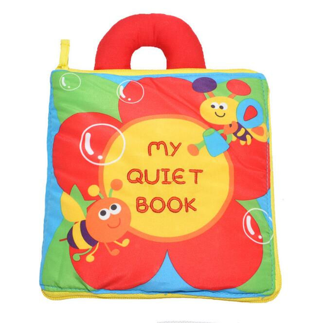 Lovely Baby Toys Early Education Soft Book Multi Purpose Cloth Book Flower Bee my Quiet Book