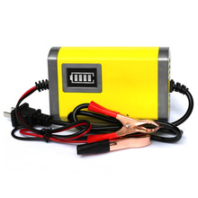12V 2A Smart Car Battery Charger Automatic Auto Motorcycle Lead Acid AGM GEL 12 V Volt Moto Intelligent LCD Display 220V