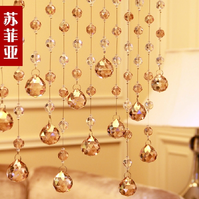 porch partition door curtain decorative curtains 32 section beads can be customized 5 strings of crystal - Decorative Curtains