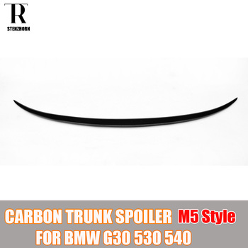 G30 M5 Look Real Carbon Fiber Rear Boot lip Wing for BMW G30 530 540 2017 UP Auto Racing Car Tail Trunk Wing Spoiler