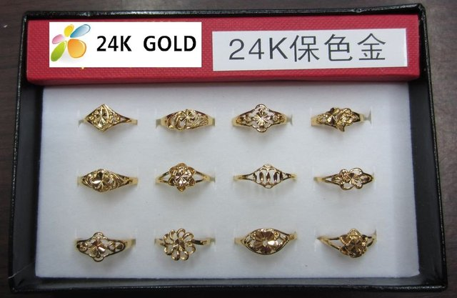 Promotion! hot sale!free shipping!fashion Ring,wedding ring,24k gold plated ring,never fade color,wholesale,12pcs,jewellery