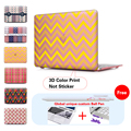 Wavy Pulse Cover For Macbook Air 11 12 13 Pro Retina 13 15 inch New Fashion For Girls Crystal Case Laptop Shell Accessories
