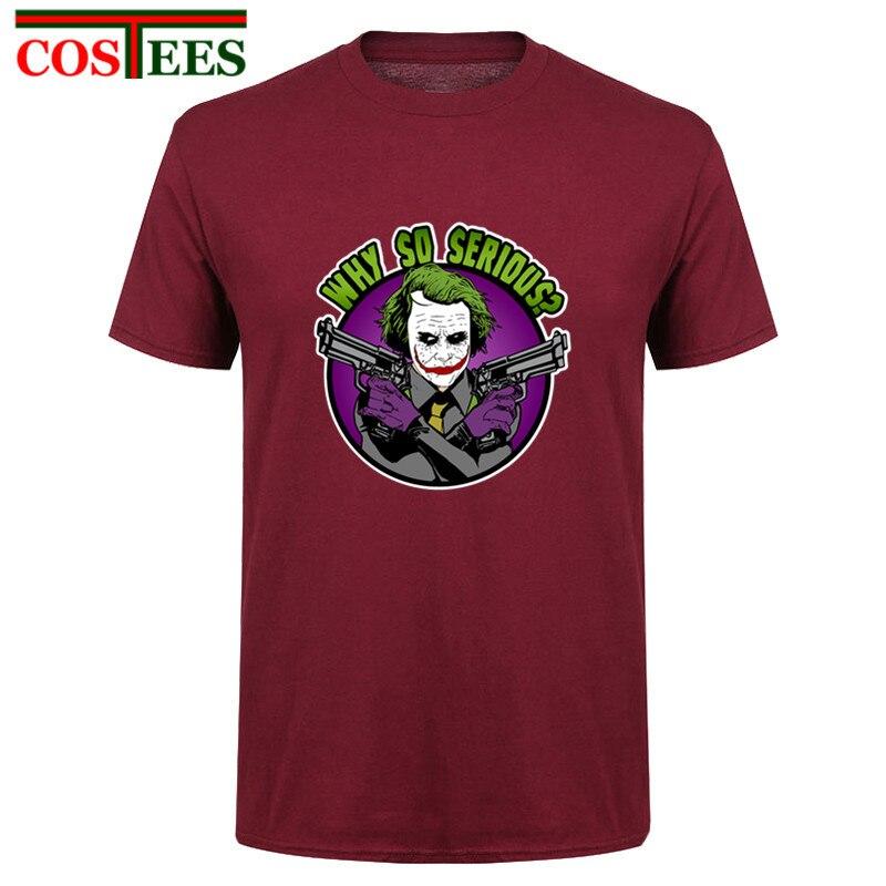 2018 New Arrival Novelty design The Villain T shirt men Casual geek nerd clown tshirt homme Plus Size 3XL Why So Serious t-shirt