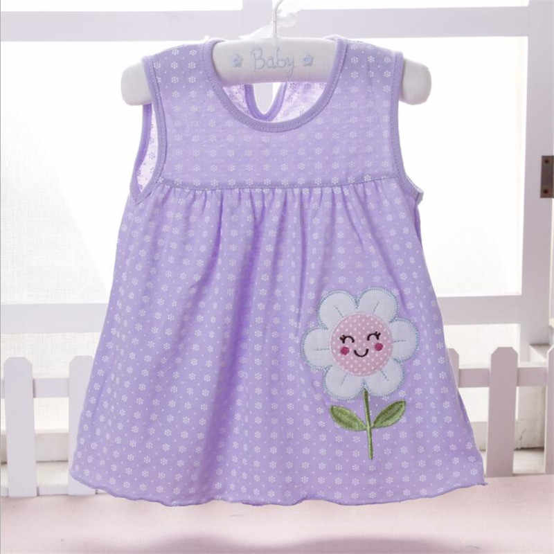 New  baby clothing casual children's fashion baby clothes summer style clothes girls wear sleeveless dress casual wear cotton