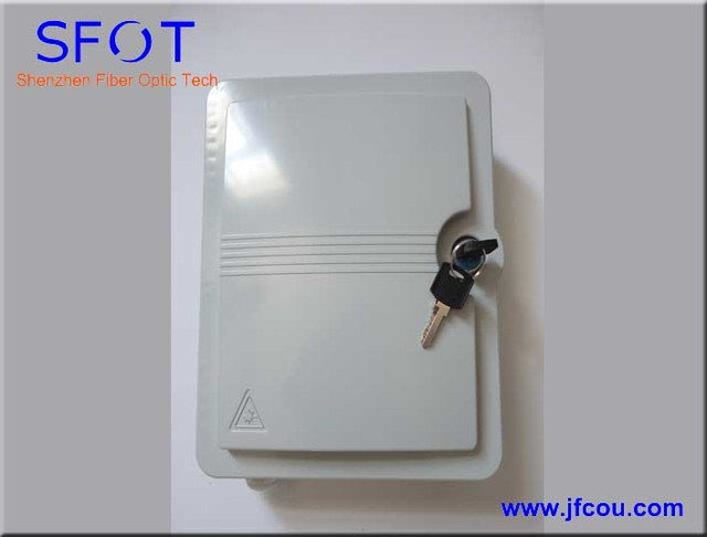 12  Cores  FTTH  Fiber optical termination box with key (easy installation, small housing)