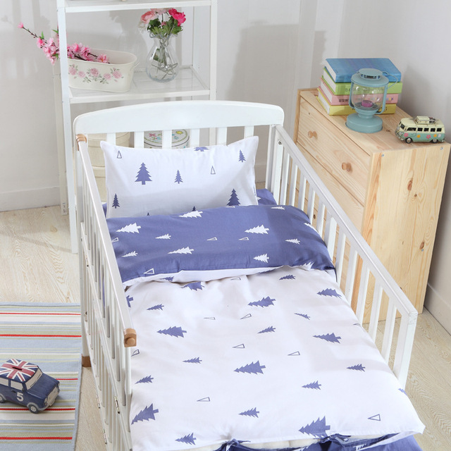 2016 Hot Sale Ins crib bed linen 3pcs baby Bedding set include pillow case+bed sheet+duvet cover without filling free shipping