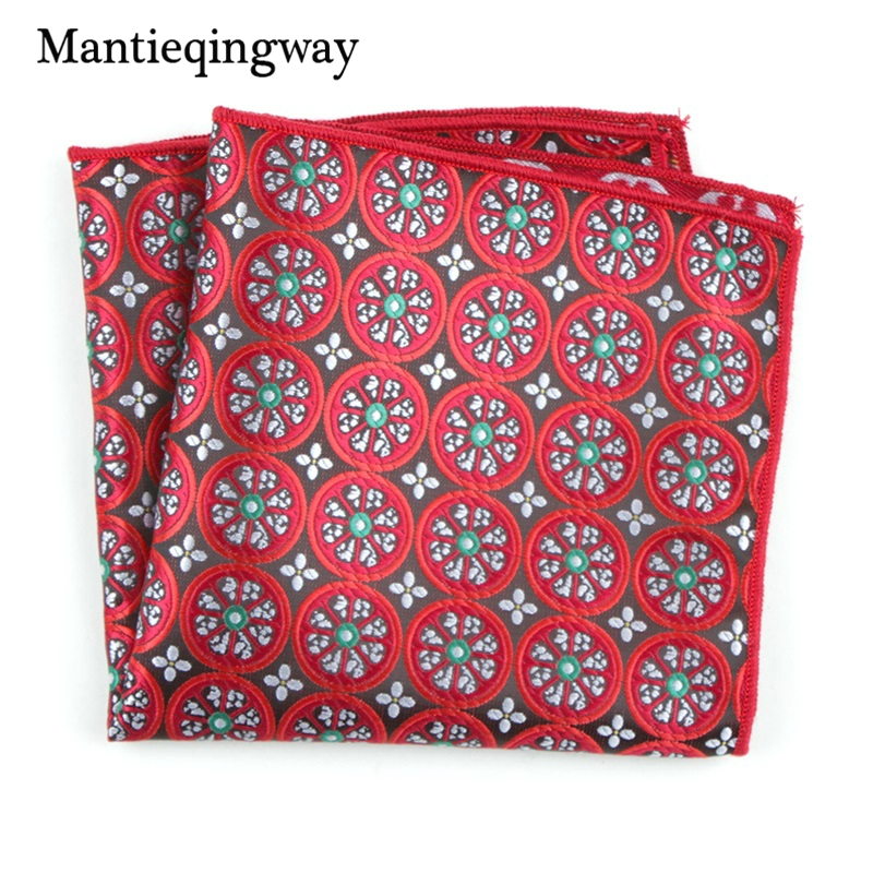 Mantieqingway Business Polyester Pocket Square For Mens Suit Hankderchiefs For Wedding Pocket Square Towel For Women Hanky