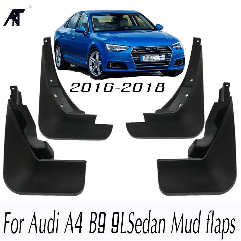 Mud Flaps For Audi A4 B9 9L 2016 2017 2018 Sedan Mudflaps Splash Guards Car Mud