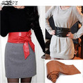 2016 New Elegant Lady Bowknot Bind Wide Belts for Women Waistband Waist Belt Long Circle Cummerbund For Female 6 Colors