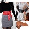 2016 nova elegante Lady Bowknot Bind largas cintos para as mulheres cinto longo círculo compoteira cintura para mulheres 6 cores