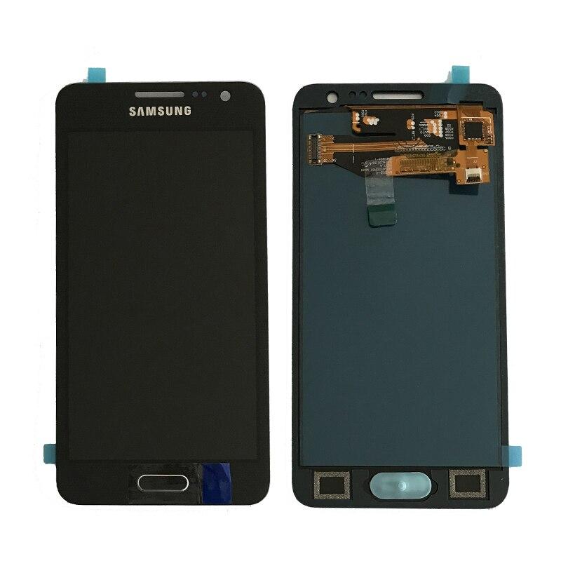 Para Samsung Galaxy A3 2015 A300 A3000 A300F A300M pantalla LCD + pantalla táctil digitizador Asamblea no puede ajustar el brillo