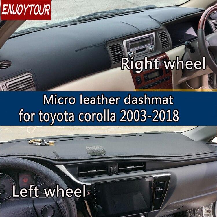 For toyota corolla axio altis 2003-2018 Leather Dashmat Dashboard Cover Prevent Sunlight Pads Dash Mat 2006 2007 2012 2013 2014