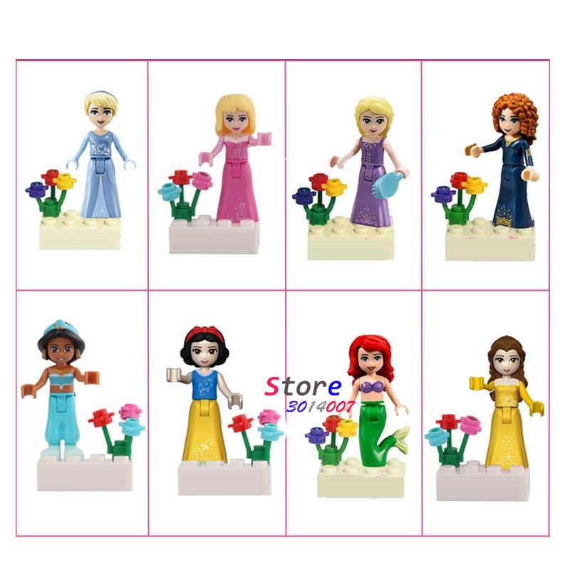 10Set Cartoon Series 4 Girls Adventure time Toys Story Batman Movie Seiya building blocks Model Children