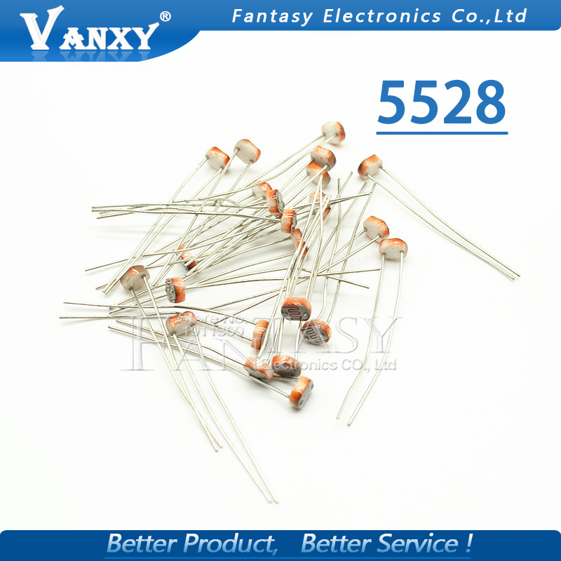 20pcs 5528 light dependent resistor photoresistor resistor 5mm ...