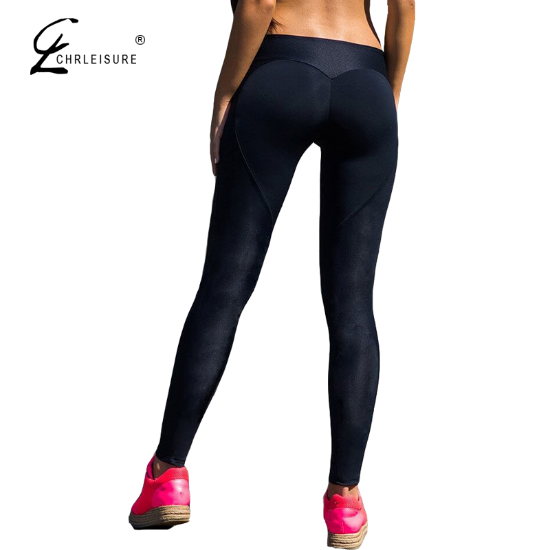 CHRLEISURE High Waits Push Up Leggings Mujeres Poliéster Negro - Ropa de mujer - foto 1
