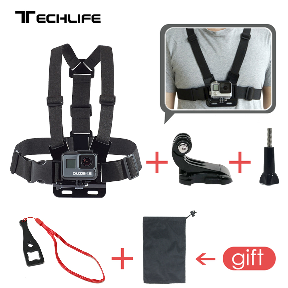 Chest Mount Harness For GoPro Hero 5 6 Accessories Chest Strap For Xiaomi Yi 4K For Eken For Go pro SJCAM SJ4000 Action camera