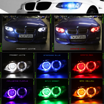 For BMW Angel eye of car headlights LED day line lamp H8 bulb for BMW 120 320 350 330 520 525 540 730 740 X1 X3 X5 X6 Z4 M3 M5 image