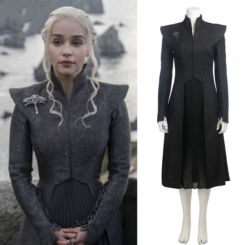 Free Shipping Daenerys Targaryen Custom Made Cosplay Halloween Dress Cosplay Game of Thrones Season 7 Costume Fancy Dress