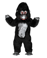 Gorilla Costume Mascot Costume for adults christmas Halloween Outfit Fancy Dress Suit Free Shipping real picture