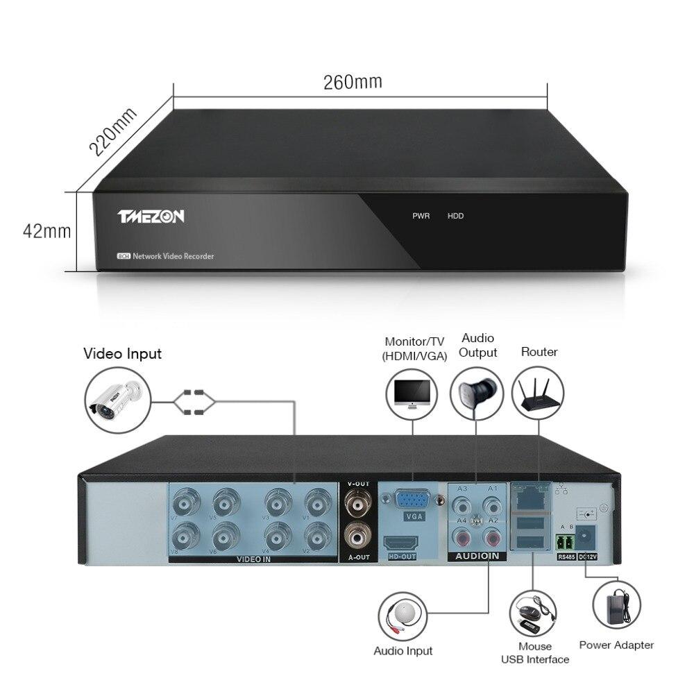 TMEZON 8CH CCTV Sistemi 8 ADET 1080 P Açık Hava Güvenlik Kamera - Güvenlik ve Koruma - Fotoğraf 5