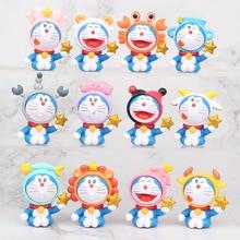 Models Figures Doraemon Cake-Decoration Kids Toys 12pcs/Lot Gift Zodiac-Style TFA1960