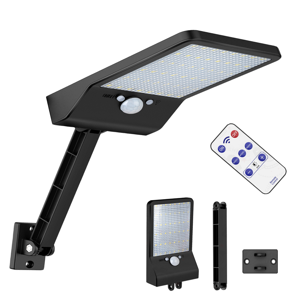 Solar Lamp Newest 48 LED   With Three Modes Outdoor Waterproof  Light Three  Pole  Solar Lights