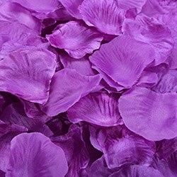 1000 шт./лот, лепестки роз, свадебные, искусственные шелковые цветы, украшения, свадебные, вечерние, цветные, 40 цветов, RP01 - Цвет: purple