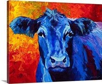 Modern Wall Art 100 Handpainted Abstract Pictures Blue Cow Pictures On Canvas Oil Paintings For Wall