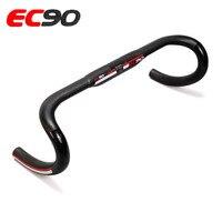 Recentes Fibra De Carbono Road Bike Guidão EC90 Mate preto ranhuras curvas Cair Guidão 3 K Matt Black 31.8*400/420/440mm|road bike handlebar|bike handlebar|bike drop handlebars -