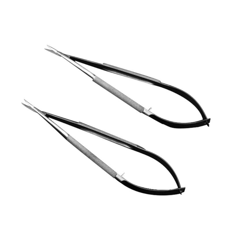Aletler'ten Endüstriyel Cımbızlar'de Mikroskobik makas Forcep Probe mikro kanca cımbız Spatula 12cm paslanmaz çelik title=