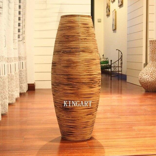 De Noel Retro Bambou Vase Grand Plancher Vase Grand Antique Vintage