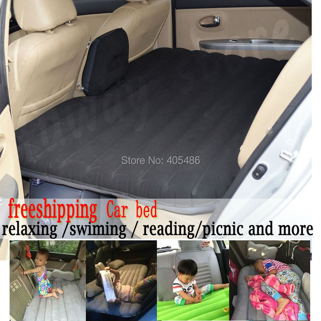 Offroad Travel Inflatable car bed  Inflatable seat outdoor sofa thicken outdoor mattress car mattress(dark gray)