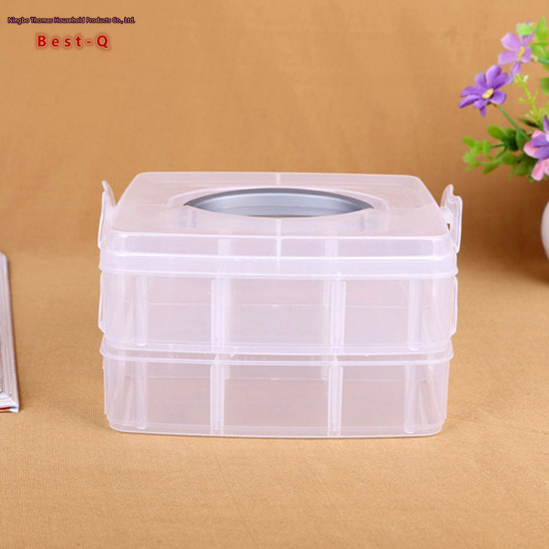 Free shipping multifunctional plastic storage box small portable storage box double box manufacturers selling-in Storage Boxes u0026 Bins from Home u0026 Garden on ... & Free shipping multifunctional plastic storage box small portable ...