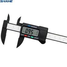 shahe new 100 mm Vernier Digital Electronic Caliper Ruler Carbon Fiber Composite Vernier Calipers Micrometer Measuring Tools