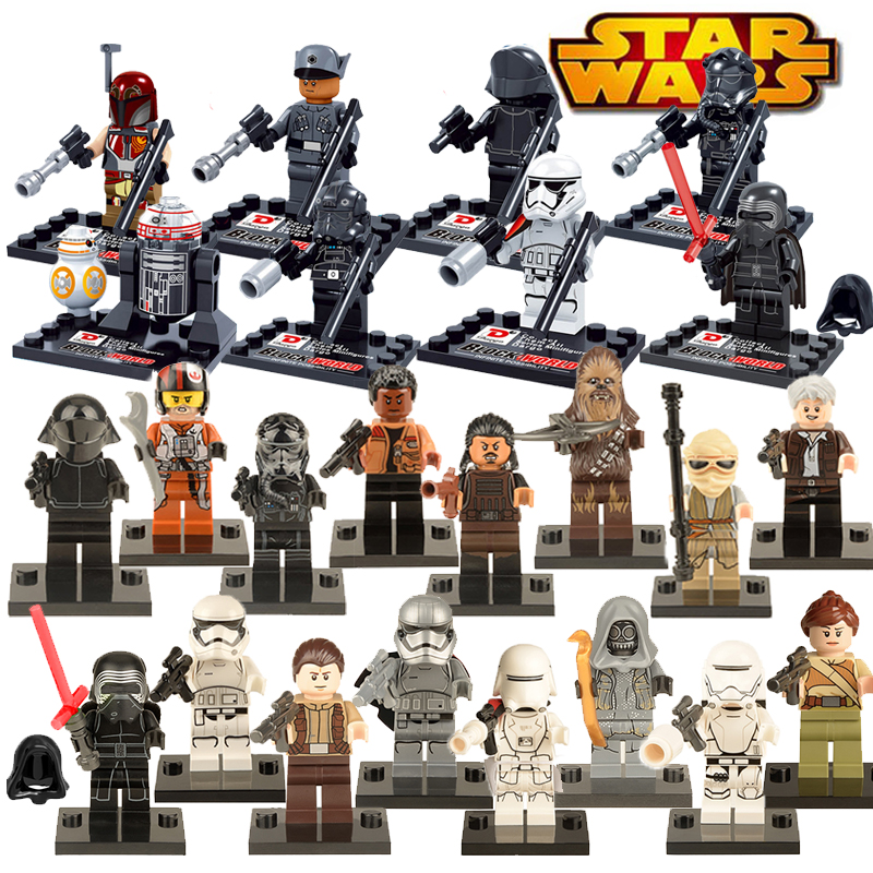 1PC Star Wars diy figures darth Vader R2D2 Boba Fett Clone Trooper Princess Leia Kylo Ren Building Blocks Kids Toys Xmas Gift