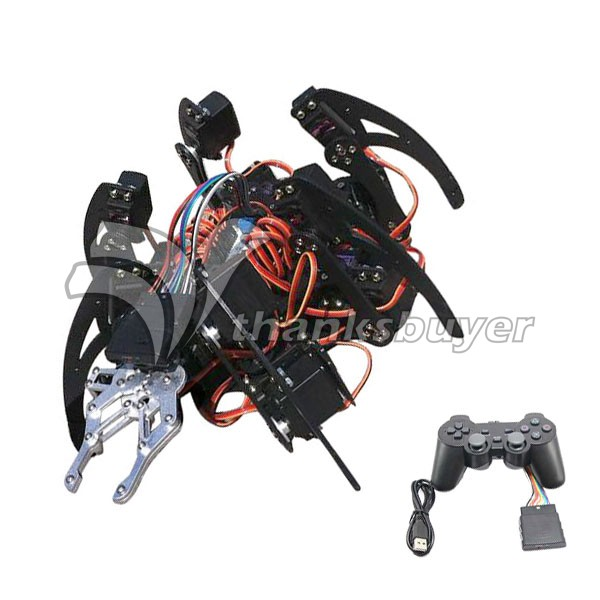 цена 20DOF Aluminium Hexapod Robotic Spider Robot Frame Kit with 20pcs MG996R Servos & Control Board
