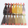 1pcs refires bjd hair 25cm*100CM black brown khaki color long straight wig hair for 1/3 1/4 BJD diy