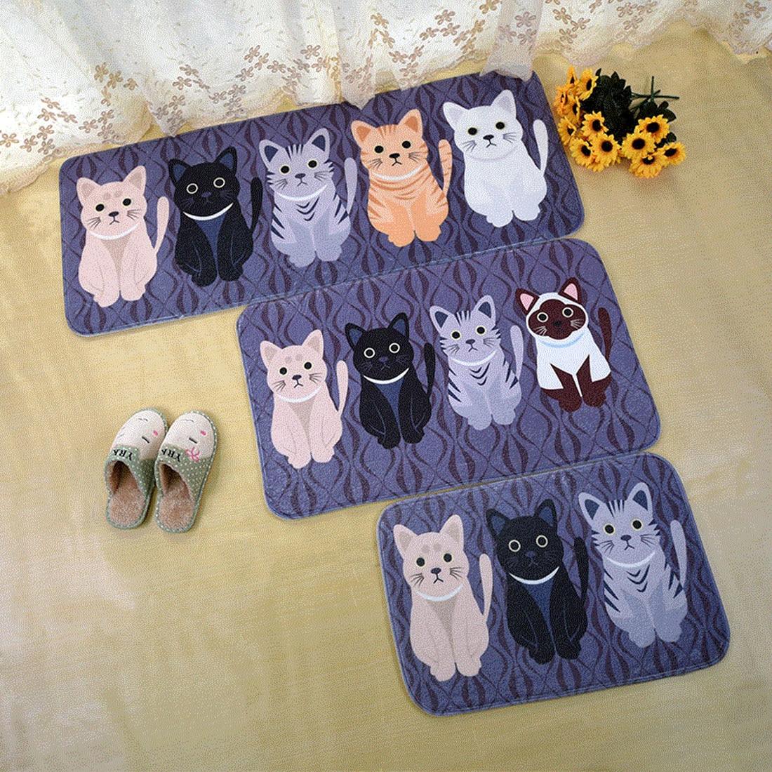 Carpets & Rugs Precise Welcome Floor Mats Animal Cat Printed Bathroom Kitchen Carpets Doormats Cat Floor Mat For Living Room Anti-slip Tapete