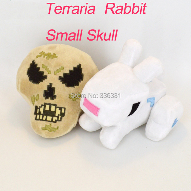 Terraria Plush Toys Creative Skull Dolls 13-15cm Dolls Gifts Game Stuffed Toys High Quality Adorable Bunny Dolls Free Shipping
