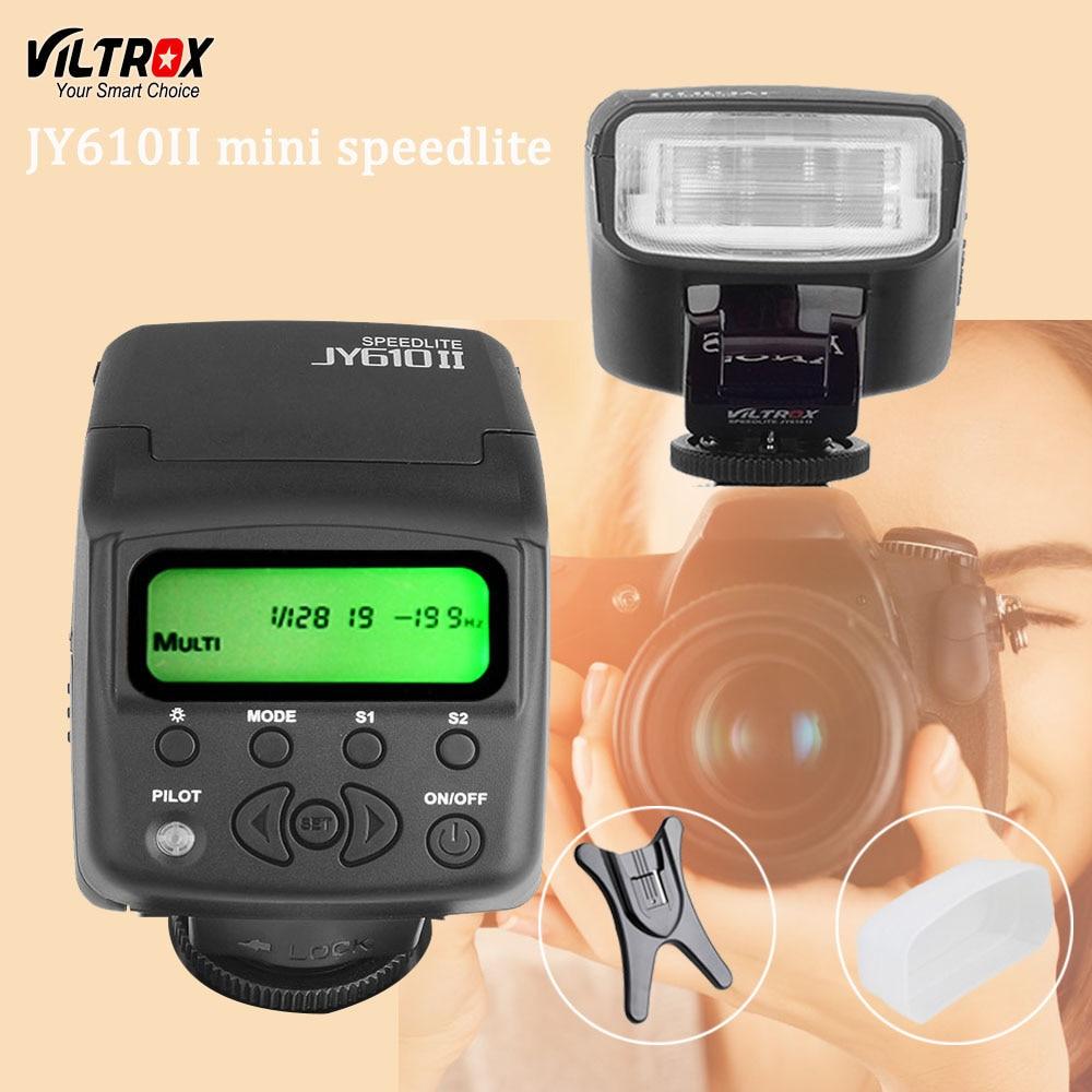 Viltrox JY610II Mini LCD Universel Flash Speedlite pour Sony A7 A7R NEX6 A6300 A3000 Canon Nikon Olympus Caméra
