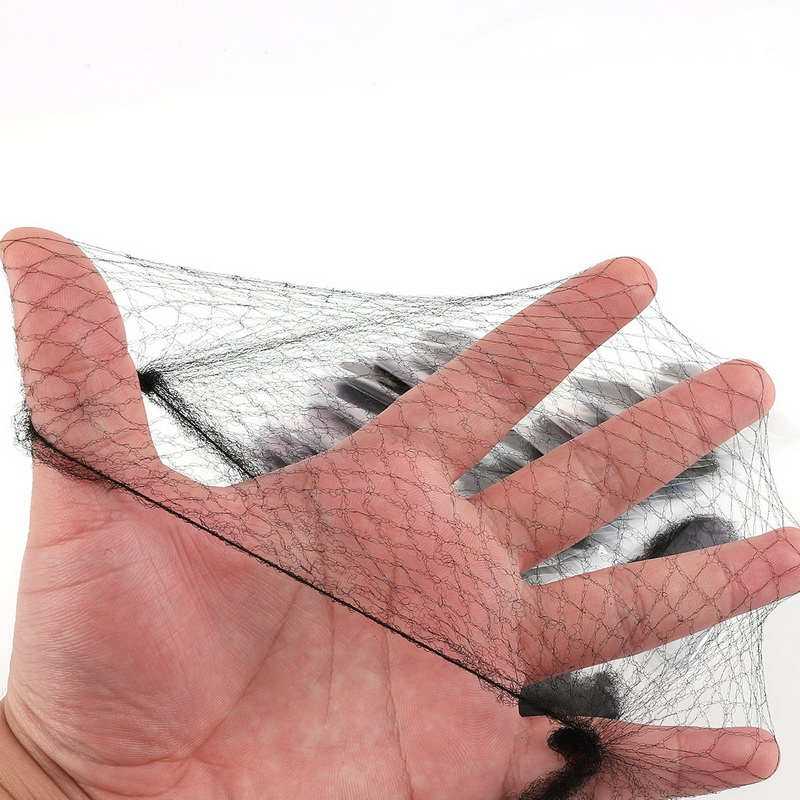50PCS Nylon Hair Net Star Dance Recital Weaving Cap Black Hairnets Invisible Elastic Mesh Hair Styling Hairnet Soft Lines
