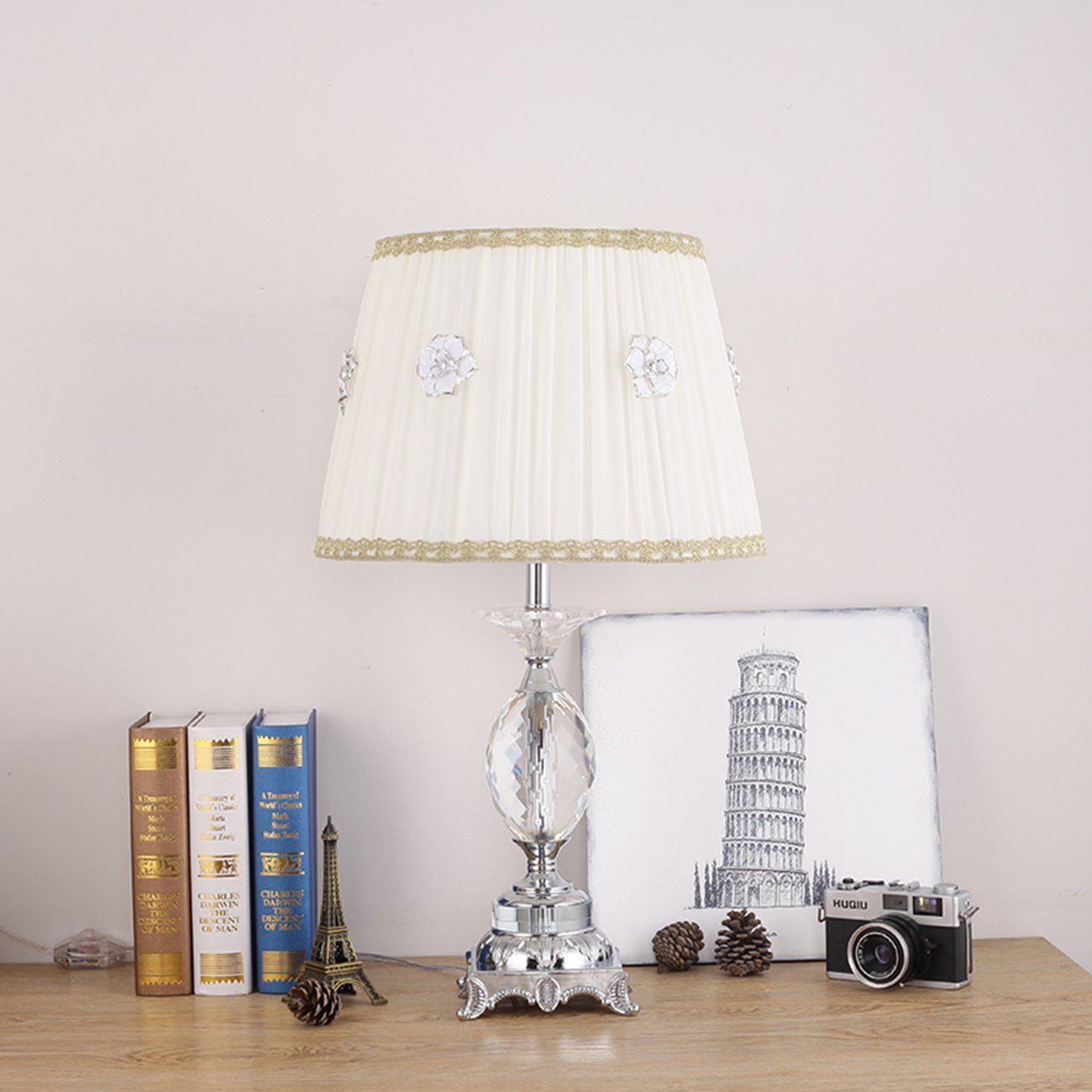 Ganeed Crystal Flower Table Lamps For Living Room Bedroom ...