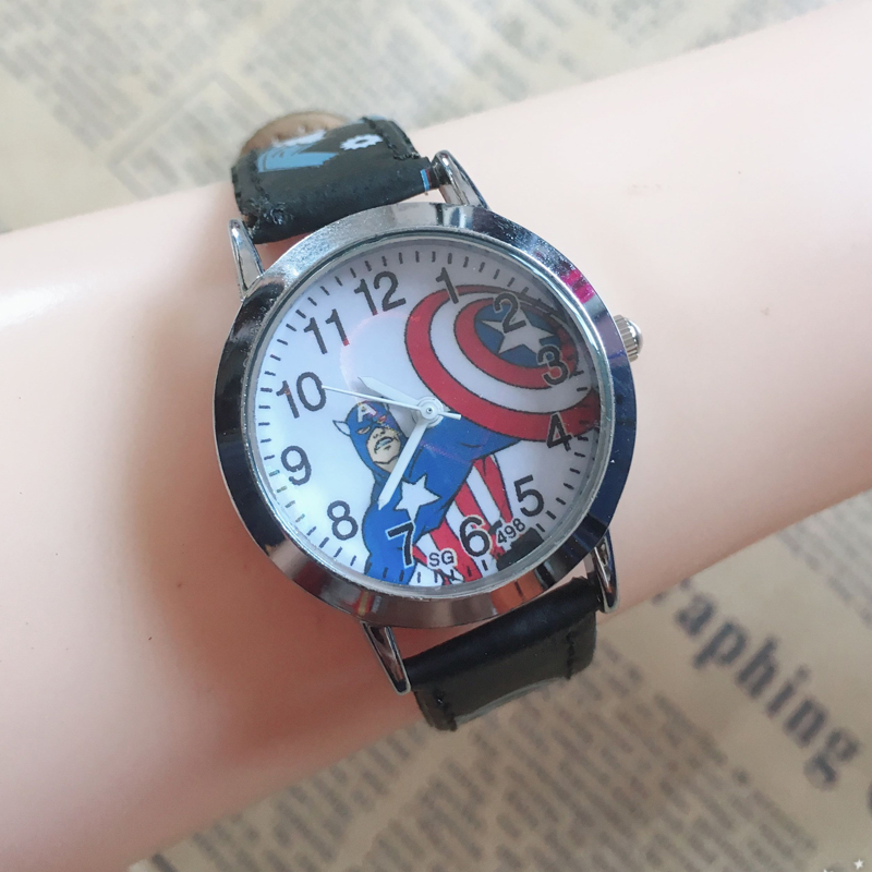 Watches Cartoon Football Style Children Students Girls Boys Nylon Strap Waterproof Quartz Wrist Watch 06 To Have A Unique National Style