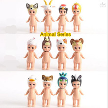 Original box PVC Anime Sonny angel kewpie dolls /Macarons / Marine sea/ Animal series  for 12pcs/set  toy action figure model