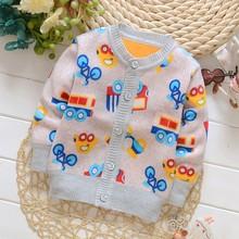 Sewater девочек/мальчиков кардигана добавить bibicola вязание свитера бархат верхняя конфеты новорожденных