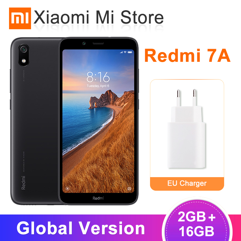In Stock Global Version Xiaomi Redmi 7A 2GB 16GB Mobile Phone 5.45