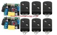 AC 220 V 1 CH Wireless remote control switch System 6X Transmitter + 2 X Receiver High quality control